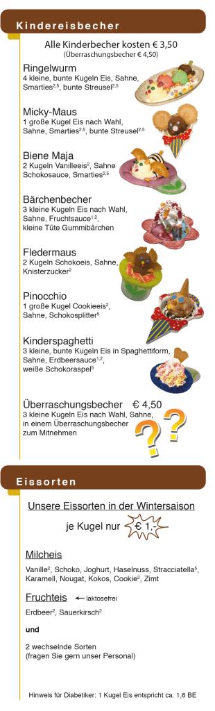Kindereisbecher & Eissorten