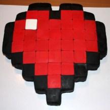 Pixelheart Torte fertig