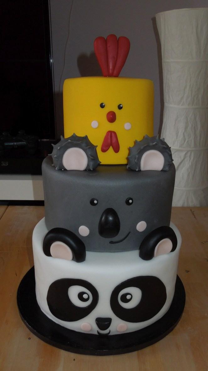 Panda Koala Huhn Torte