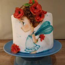 Pucky Cakes Onlinekurs Mohnblumenmädchen - I