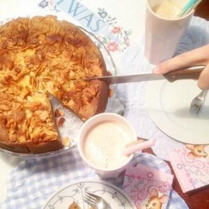 saftiger und lockerer apfelkuchen mit mandeln