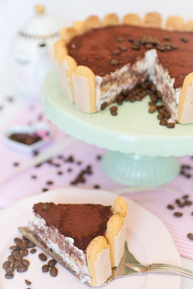 Tiramisu Torte Nobake Löffelbiskuit