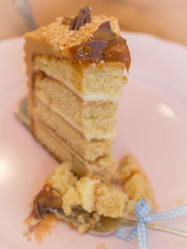 Erdnuss-Karamell Torte, Snickers Kuchen