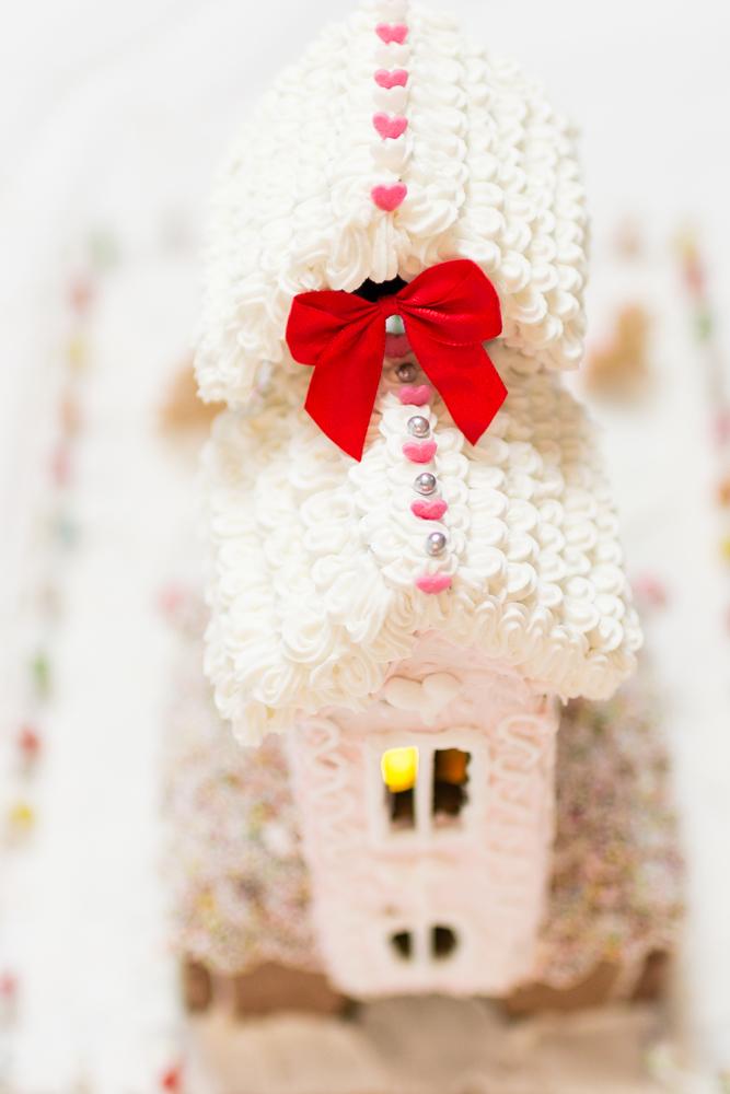 amazing gingerbreadhouse, Anleitung Lebkuchenhaus bauen, rosa Lebkuchenhaus