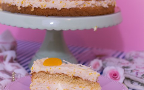 Mandarinen-Schmand-Torte, Mandarinenkuchen, Torte mit Mandarinen