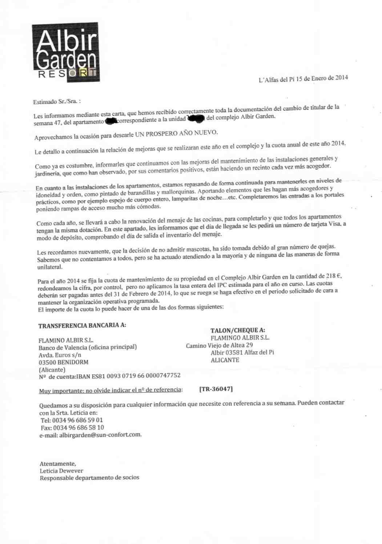 carta-de-cambio-de-titularidad-de-multipropiedad Librarse de la multipropiedad