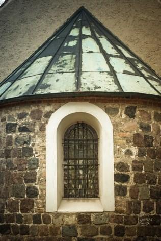 Fenster an unserer Dorfkirche. Sie sehen erst beleuchtet richtig schön aus.