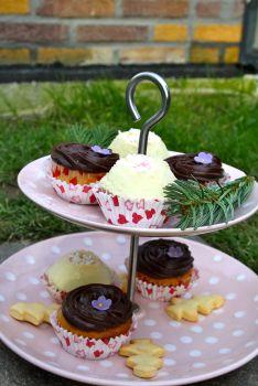 Cupcake, Schokolade, Banane, Karamell