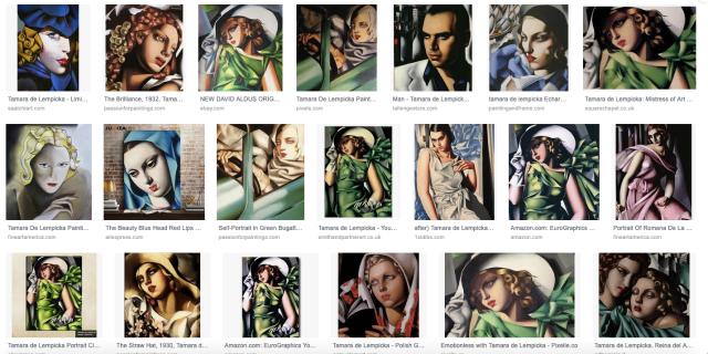Google-Ergebnisse für Tamara de Lempicka paintings