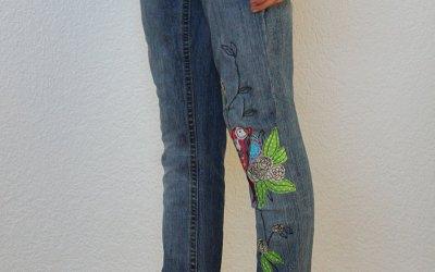 Nähanleitung wie eine Jeanshose enger genäht werden kann