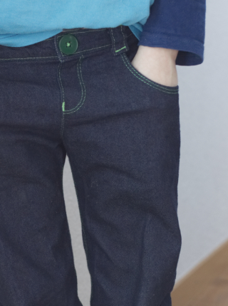 Jeans nähen vorne Fr Fadegrad