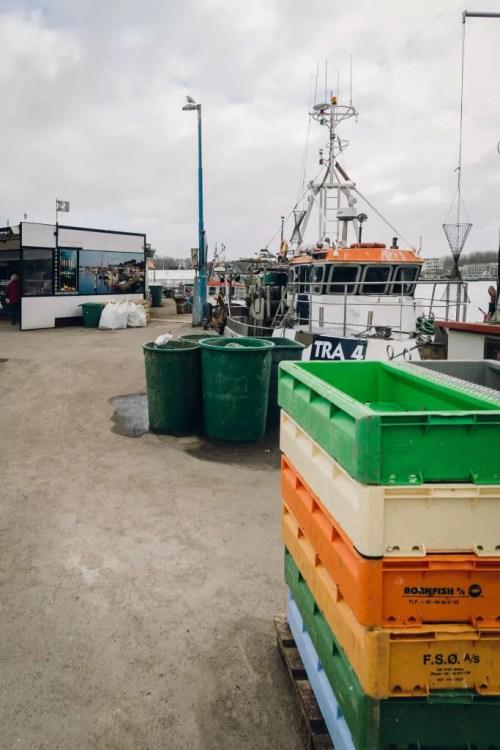 Utensilien der Fischer im Fischereihafen