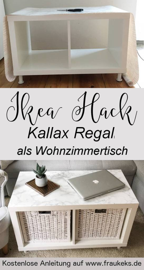 ikea hack wohnzimmertisch aus kallax regal. Black Bedroom Furniture Sets. Home Design Ideas