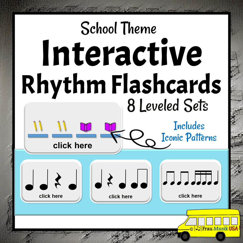 Interactive Rhythm Pattern Flashcards for the Elementary Music Classroom