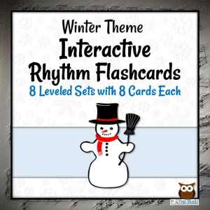 Interactive Rhythm Flashcards with a Winter Theme