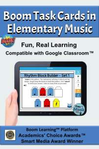 Rhythmic Dictation Boom Cards on iPad