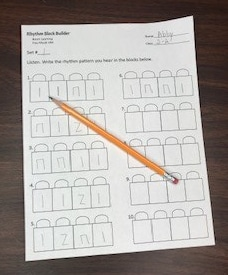 Rhythmic Dictation FREE Rhythm Block Template for the Elementary Music Classroom