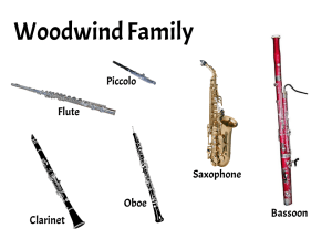 Instruments of the Woodwind Family