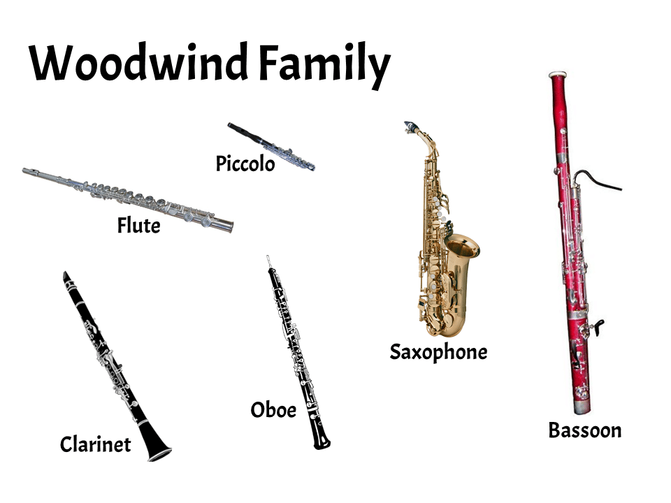 Woodwind Family | FREE Lesson - Learn About the Instruments of the Orchestra and Band | Elementary Music Classroom