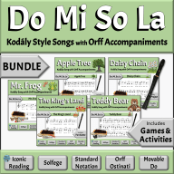 Kodály Songs & Activities to Developing Music Literacy | Elementary Music Classroom - Do Mi So La