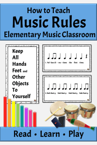 Rules for elementary music classroom with rhythm instruments