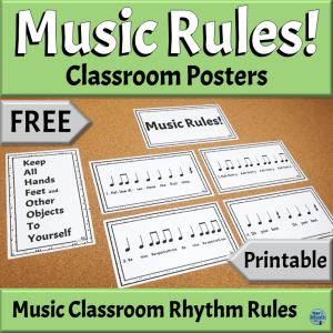 FREE Back to School Printables for the Elementary Music Classroom | Music Rule Rhythm Posters