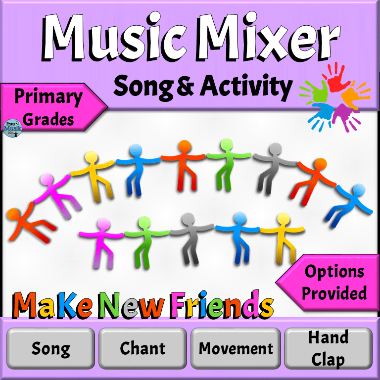 Music Mixer Song & Activity for Primary Grades