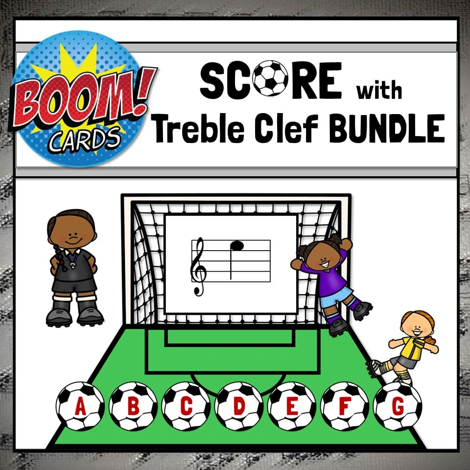 Treble Clef Boom Cards - BASIC MinI-Bundle