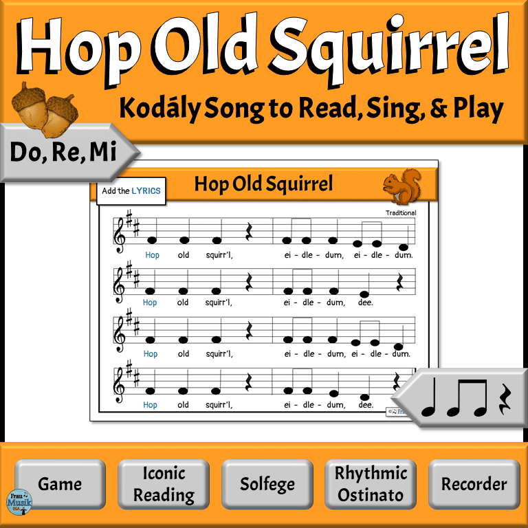 Kodály-Style Music Literacy Activities for the Elementary Music Classroom | Do Re Mi Song with Recorder Notation