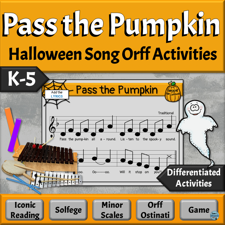 Halloween Song, Game, Orff Activities for Elementary Music Classroom