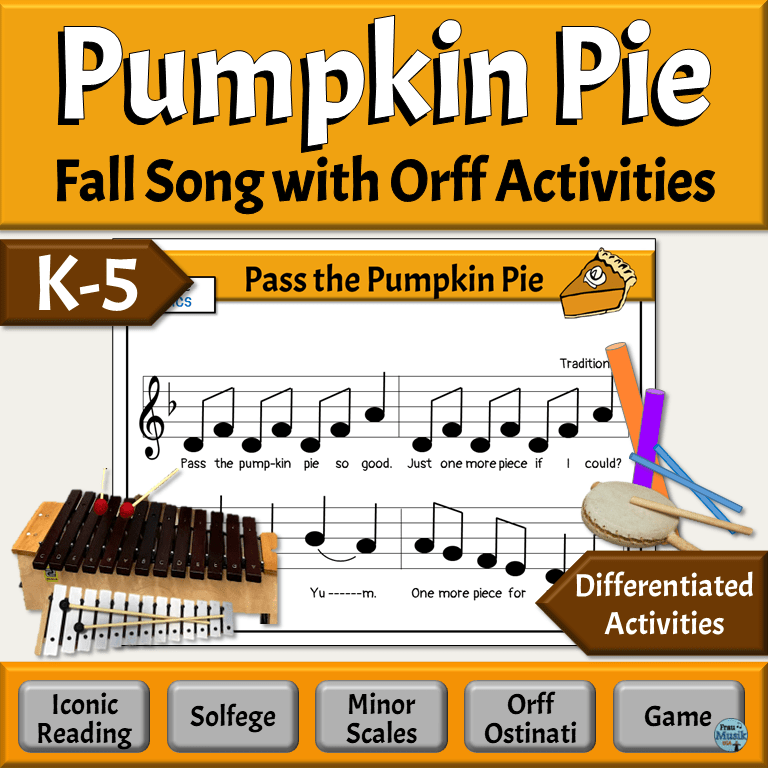 Pass the Pumpkin Fall Song with Orff Activities