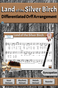 Land of the Silver Birch Song with Rhythm Instruments & Recorder