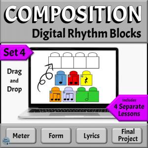 Music Composition Drag & Drop Rhythm Blocks, Set 4 | PowerPoint Version
