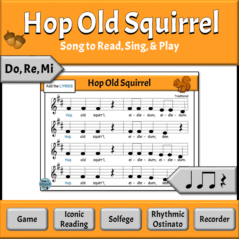 Favorite Elementary Music Lessons - Hop Old Squirrel