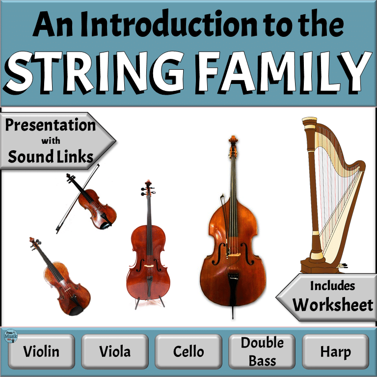 Meet the Instruments of the Orchestra - String Family   Elementary Music Lesson