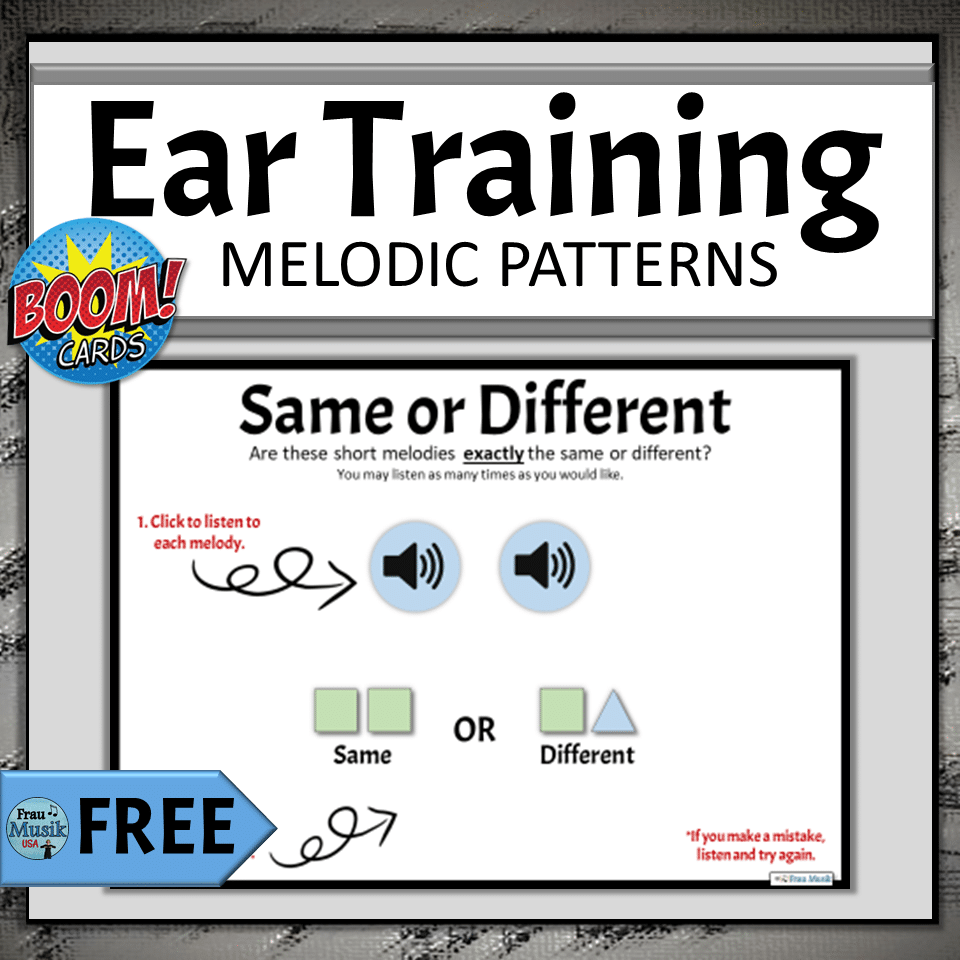FREE Online Elementary Music Activities for Distance Learning Same Different Melodic Patterns