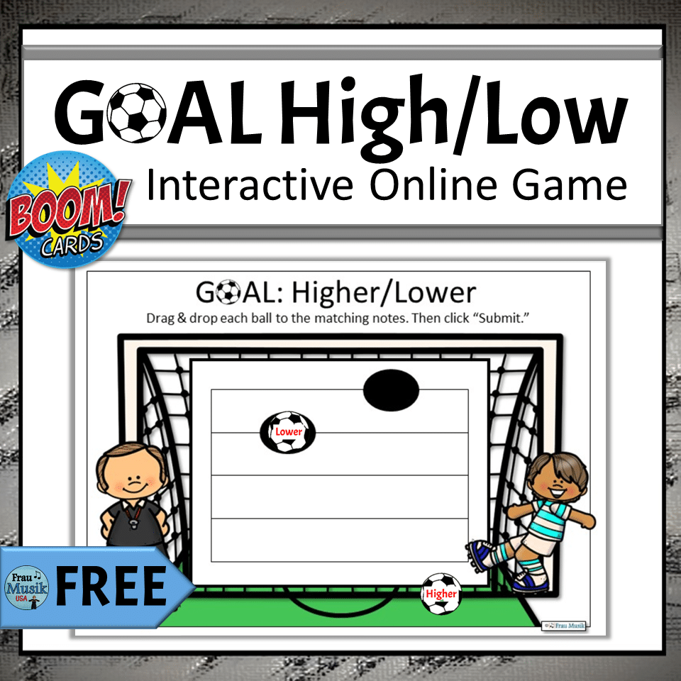 FREE Online Elementary Music Activities for Distance Learning | Higher/Lower Visual Identification