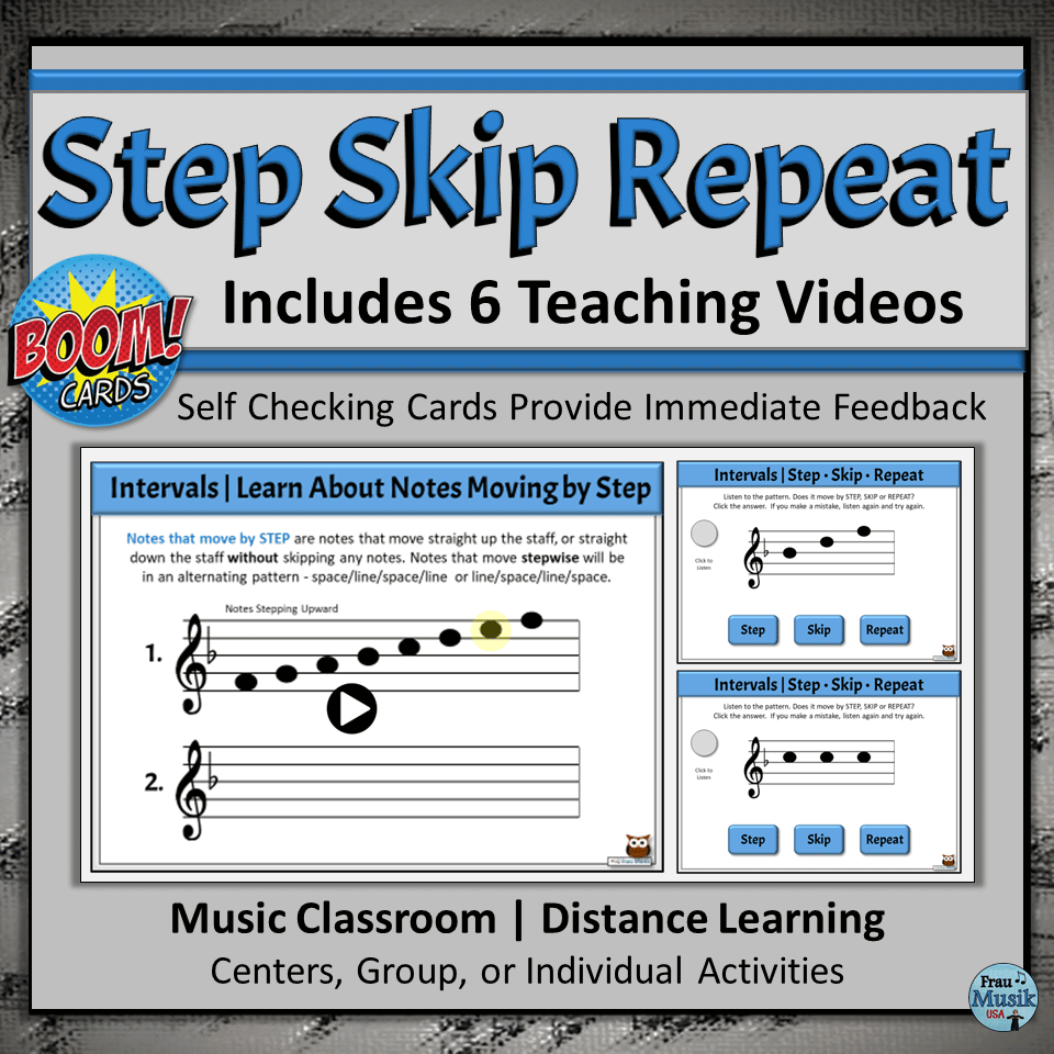 Self-Checking Activities Give Students Immediate Feedback | Elementary Music Literacy Skills - Boom Cards