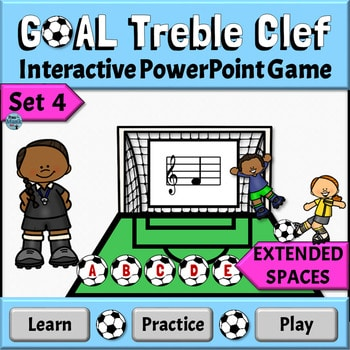 Learning Treble Clef Note Names, Interactive PowerPoint Games for the Elementary Music Classroom