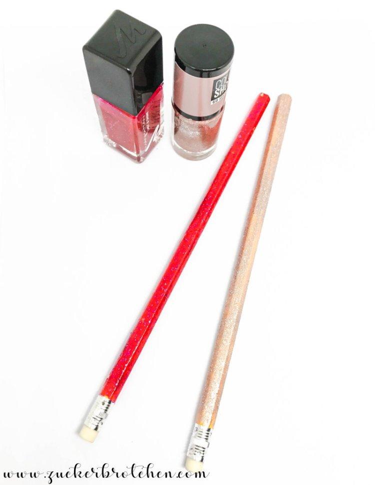 DIY Bleistifte mit Nagellack aufpeppen
