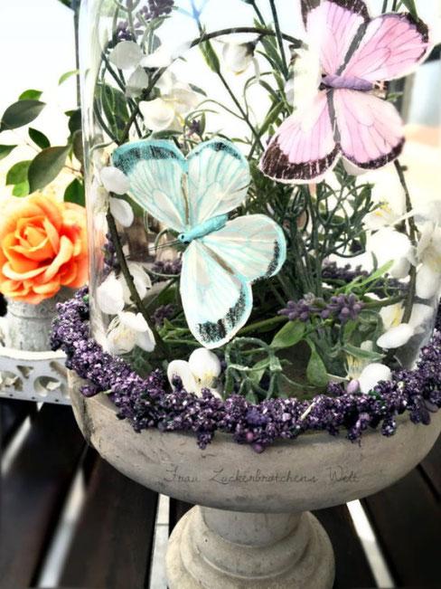 DIY Deko kleine Schmetterlingswelt