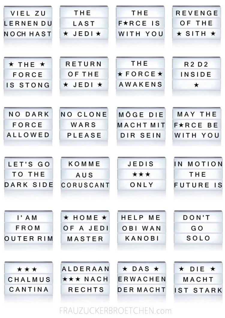Star Wars Sprüche 1001 Sprueche
