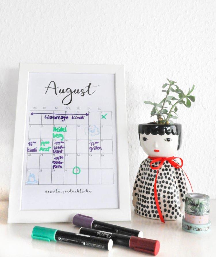 DIY Editierbarer Terminkalender aus einem alten Bilderrahmen 19