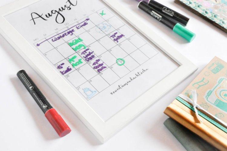 DIY Editierbarer Terminkalender aus einem alten Bilderrahmen 6