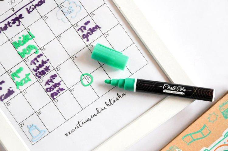 DIY Editierbarer Terminkalender aus einem alten Bilderrahmen 7