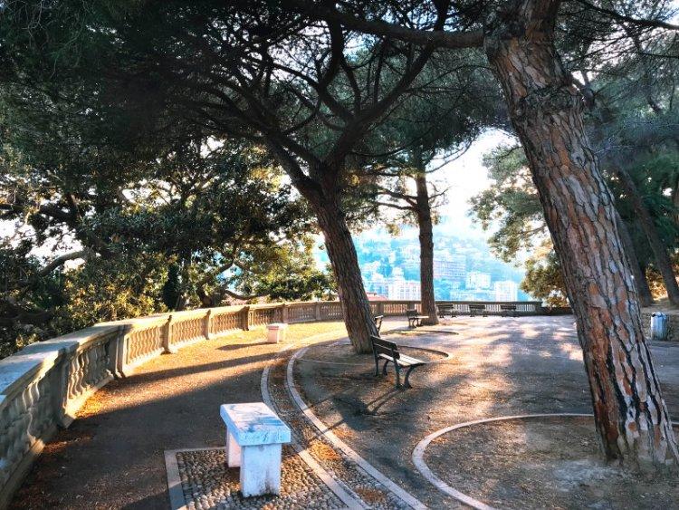 Die gigantiche Aussicht über Sanremo