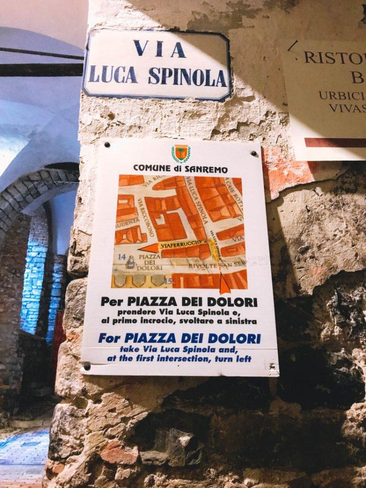 In den Gängen von La Pigna Sanremo