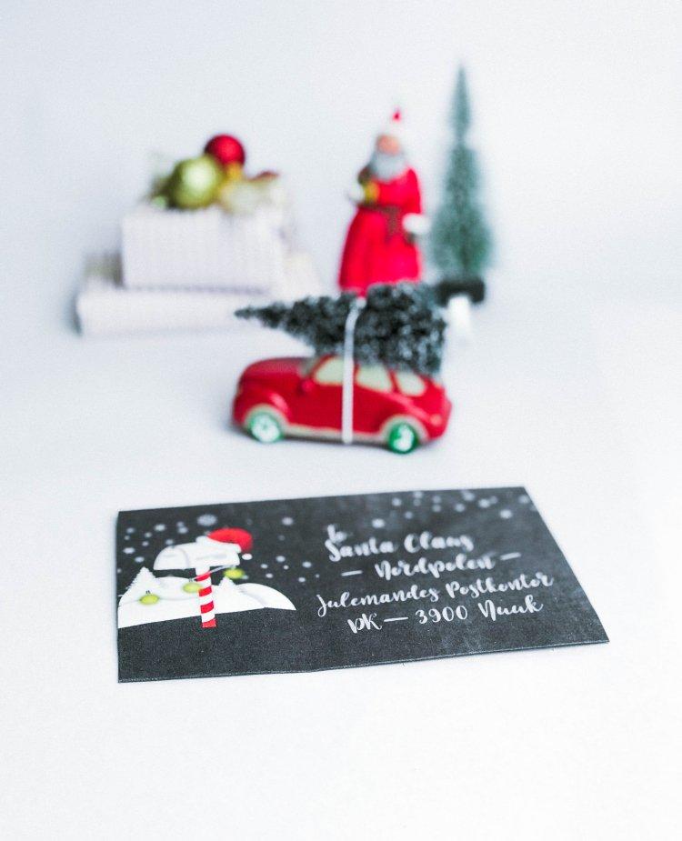 Schreibe einen Brief an Santa