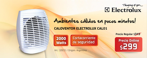 Electrolux Caloventilador Fravega catalogo 2013