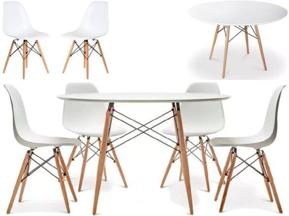 Mesa y 4 sillas Eames en Frávega